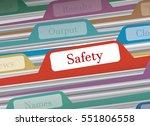 safety folder in file folders... | Shutterstock .eps vector #551806558