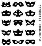 black silhouettes of festive... | Shutterstock .eps vector #551808112