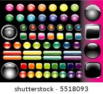 set of vector colored glass... | Shutterstock .eps vector #5518093