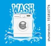 washing machine. | Shutterstock .eps vector #551810776