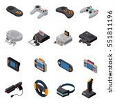 game gadgets isometric icons... | Shutterstock .eps vector #551811196