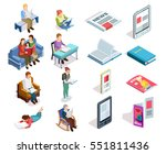 isolated and colored isometirc... | Shutterstock .eps vector #551811436