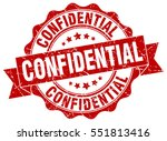 confidential. stamp. sticker.... | Shutterstock .eps vector #551813416