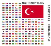 world country flags icon vector ... | Shutterstock .eps vector #551818696
