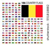 world country flags icon vector ... | Shutterstock .eps vector #551818882