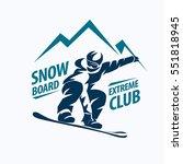 snowboarding stylized symbol ... | Shutterstock .eps vector #551818945