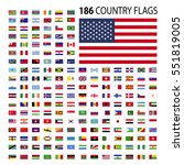 world country flags icon vector ... | Shutterstock .eps vector #551819005
