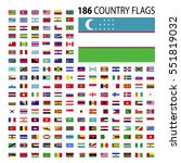 world country flags icon vector ... | Shutterstock .eps vector #551819032