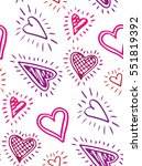 valentine's day pattern with... | Shutterstock .eps vector #551819392