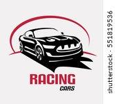 race car symbol logo template ... | Shutterstock .eps vector #551819536