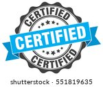 certified. stamp. sticker. seal.... | Shutterstock .eps vector #551819635
