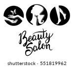 vector illustration of a black... | Shutterstock .eps vector #551819962