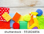 cleaning day concept with... | Shutterstock . vector #551826856