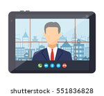 tablet pc with internet...   Shutterstock .eps vector #551836828