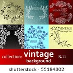 collection vintage background | Shutterstock .eps vector #55184302