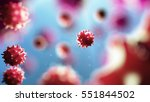 3d Illustration Of Virus Cell....