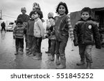 29 january 2014. syria. refugee ... | Shutterstock . vector #551845252