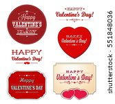 set cards of valentine's day.... | Shutterstock .eps vector #551848036