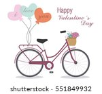 great card for valentine's day. ... | Shutterstock .eps vector #551849932