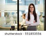 portrait of beautiful... | Shutterstock . vector #551853556