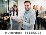group of happy business people... | Shutterstock . vector #551853736