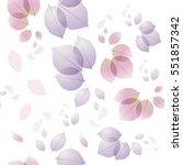 rose leaves pattern background. ... | Shutterstock .eps vector #551857342