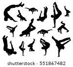 break dance silhouette isolated ... | Shutterstock .eps vector #551867482