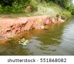River Bank. Tropical River. Th...