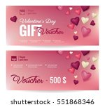 gift voucher coupon discount... | Shutterstock .eps vector #551868346