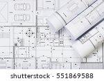 architectural plans | Shutterstock . vector #551869588