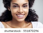 portrait of a smiling young... | Shutterstock . vector #551870296