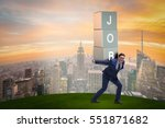 businessman carrying the burden ... | Shutterstock . vector #551871682