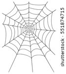 spider web stock vector... | Shutterstock .eps vector #551874715