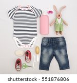 baby care accessories and... | Shutterstock . vector #551876806