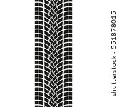 tire track isolated on white... | Shutterstock .eps vector #551878015