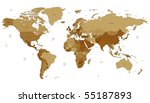 Detailed Vector World Map Of...