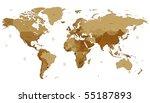 detailed vector world map of... | Shutterstock .eps vector #55187893