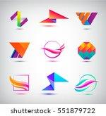 vector set of abstract logos ... | Shutterstock .eps vector #551879722