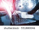 industry 4.0 concept image.... | Shutterstock . vector #551880046