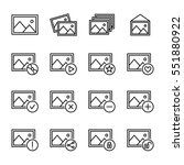 set of image icons in modern... | Shutterstock .eps vector #551880922
