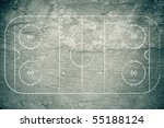 grunge hockey rink with chalk... | Shutterstock . vector #55188124