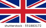 vector official flag of great... | Shutterstock .eps vector #551883172