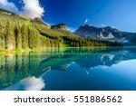 emerald lake  canada | Shutterstock . vector #551886562