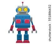 cute vector vintage robot... | Shutterstock .eps vector #551886652