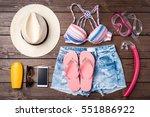 women's summer clothes...   Shutterstock . vector #551886922