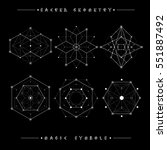 sacred geometry signs. set of... | Shutterstock .eps vector #551887492