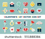 valentine colorful icon set | Shutterstock .eps vector #551888386