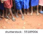 The Feet Of Children Living In...