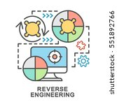 reverse engineering icons. mini ... | Shutterstock .eps vector #551892766
