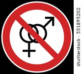 no sex sign. prohibiting sign... | Shutterstock .eps vector #551895202